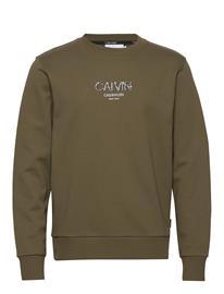 Calvin Klein Calvin Small Logo Sweatshirt Svetari Collegepaita Vihreä Calvin Klein OLIVE TREE