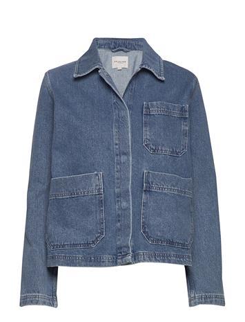 Selected Femme Slfmartha Mid Blue Denim Jacket W Farkkutakki Denimtakki Sininen Selected Femme MEDIUM BLUE DENIM