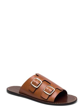 By Malene Birger Firenzia Shoes Summer Shoes Flat Ruskea By Malene Birger TAN