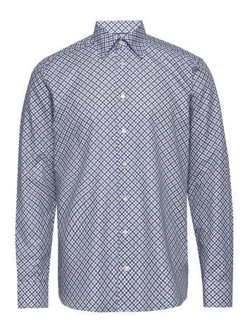 Eton Eton Midi Medallion Print Shirt Paita Rento Casual Sininen Eton BLUE