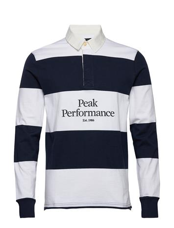 Peak Performance M Light Rugby Ls Polos Long-sleeved Sininen Peak Performance BLUE SHADOW
