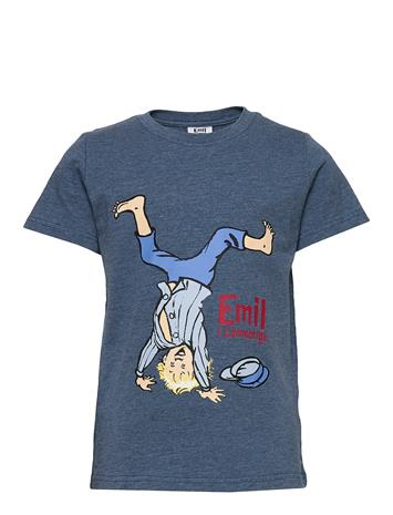 Emil i Lönneberga Funny T-Shirt T-shirts Short-sleeved Sininen Emil I Lönneberga BLUE