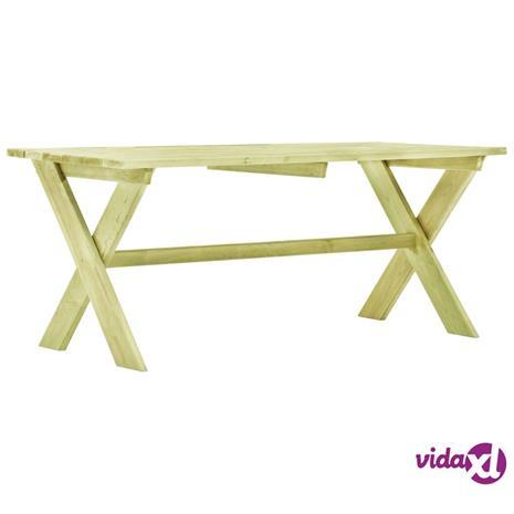 vidaXL Puutarhapöytä 170x73x70 cm kyllästetty mänty
