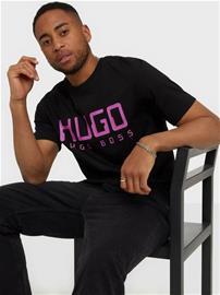 Hugo Dolive203 T-Shirt T-paidat ja topit Black, Miesten paidat, puserot ja neuleet