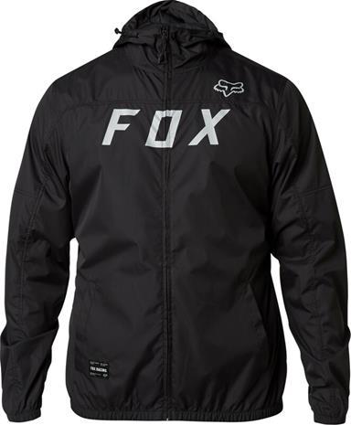 Fox Moth Windbreaker Jacket Men, black/grey, Miesten takit, paidat ja muut yläosat