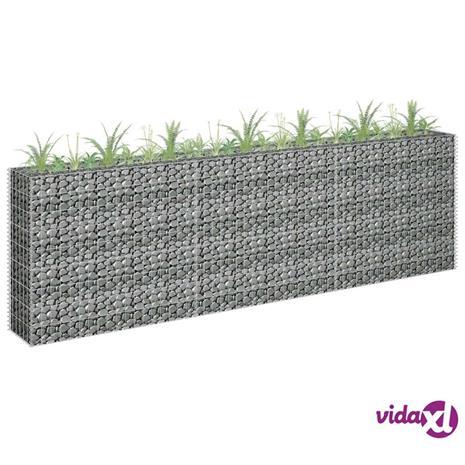vidaXL Kivikori/kukkalaatikkokehys galvanoitu teräs 270x30x90 cm