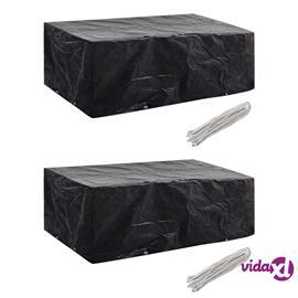 vidaXL Puutarhakalusteiden suojat 2 kpl 8 purjerengasta 200x160x70 cm