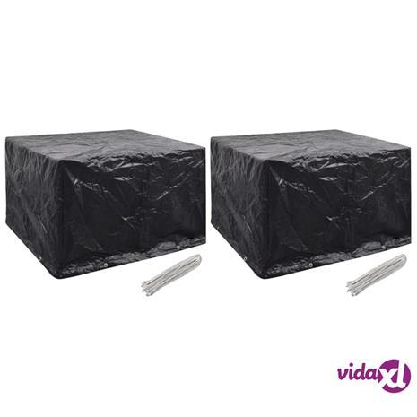 vidaXL Puutarhakalusteiden suojat 2 kpl 8 purjerengasta 135x135x90 cm