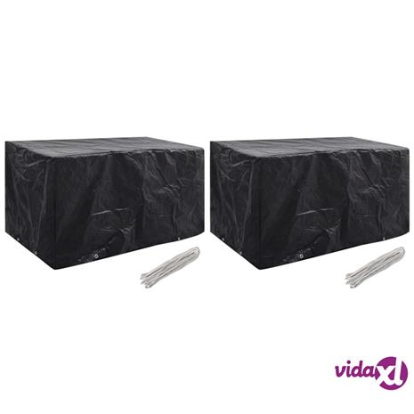 vidaXL Puutarhakalusteiden suojat 2 kpl 8 purjerengasta 180x70x90 cm