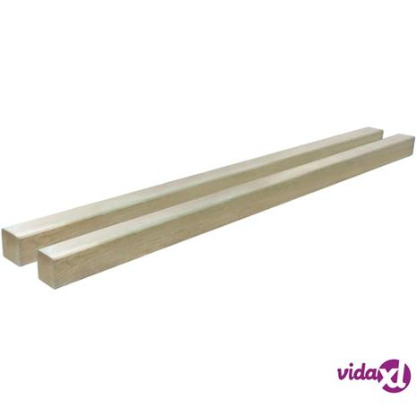 vidaXL Aitatolpat 2 kpl kyllästetty mänty 9x9x150 cm