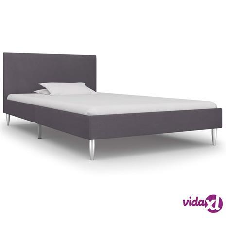 vidaXL Sängynrunko harmaa kangas 90x190 cm