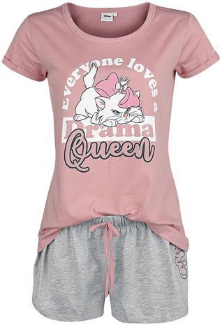 Aristokatit - Marie - Drama Queen - Pyjama - Naiset - Pinkki valkoinen