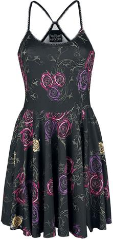 Alchemy England - Spider Rose Garden - Lyhyt mekko - Naiset - Monivärinen