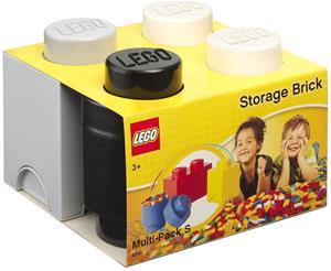 LEGO Säilytyslaatikot 3-pack, White/Grey/Black