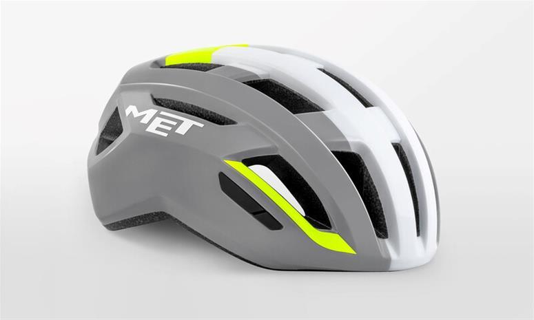 MET Vinci MIPS Kypärä, grey/safety yellow glossy
