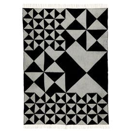 Verpan Verpan-Mirror Plaid Wool 130x190 cm, Black