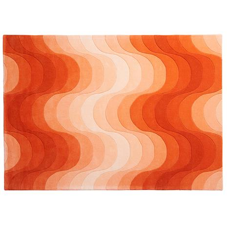 Verpan Verpan-Wave Carpet 170x240 cm, Orange