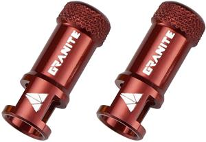 Granite CNC Valve Cap with Removing Function 2 Pieces, red