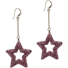 BLUSH Star Rhine Pink Earring 1 set