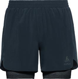 Odlo Millennium Linencool PRO 2-in-1-shortsit Miehet, blue aster/black, Miesten housut ja muut alaosat