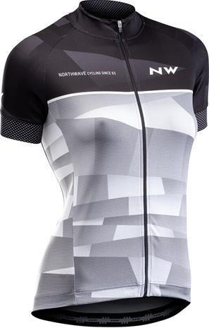 Northwave Origin Jersey Lyhythihainen Naiset, black/grey