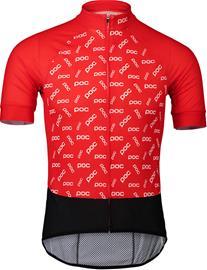 POC Essential Road Logo-jersey Miehet, polka poc prismane red