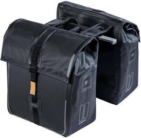 Basil Urban Dry Tupla tavaratelinelaukku 50l MIK-kiinnitysjärjestelmällä, solid black