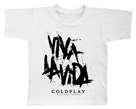 Coldplay - Viva La Vida - T-paita - Lapset - Valkoinen