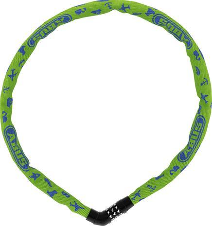 ABUS Steel-O-Chain 4804C/75 Symbols Chain Lock, lime
