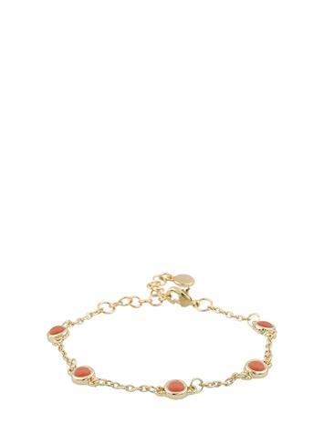 SNä– of Sweden Agatha Small Chain Brace Accessories Jewellery Bracelets Chain Bracelets Kulta SNä– Of Sweden G/ORANGE