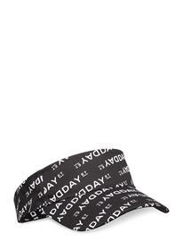 DAY et Day Logo Print Visor Accessories Headwear Hats Musta DAY Et BLACK