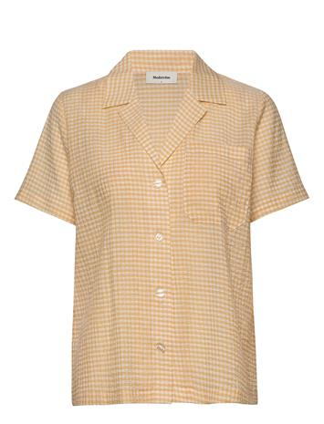 Modström Carolina Shirt Blouses Short-sleeved Modström SUNSHINE CHECK