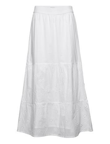Pulz Jeans Pzvanessa Skirt Pitkä Hame Valkoinen Pulz Jeans BRIGHT WHITE