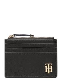 Tommy Hilfiger Saffiano Cc Holder Bags Card Holders & Wallets Card Holder Musta Tommy Hilfiger BLACK