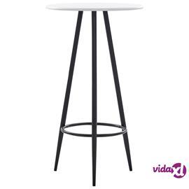 vidaXL Baaripöytä valkoinen 60x107,5 cm MDF