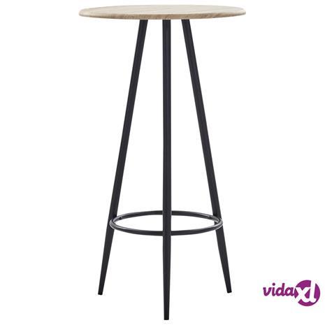 vidaXL Baaripöytä tammi 60x107,5 cm MDF