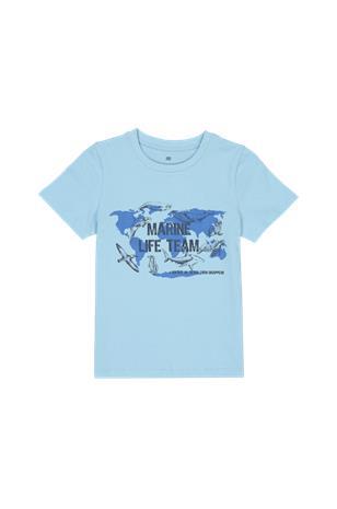 La Redoute T-paita, jossa pyöreä pääntie ja painatus