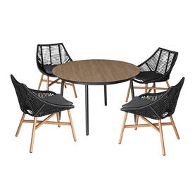 Helsinki, puutarharyhmä: pöytä ja 4 tuolia