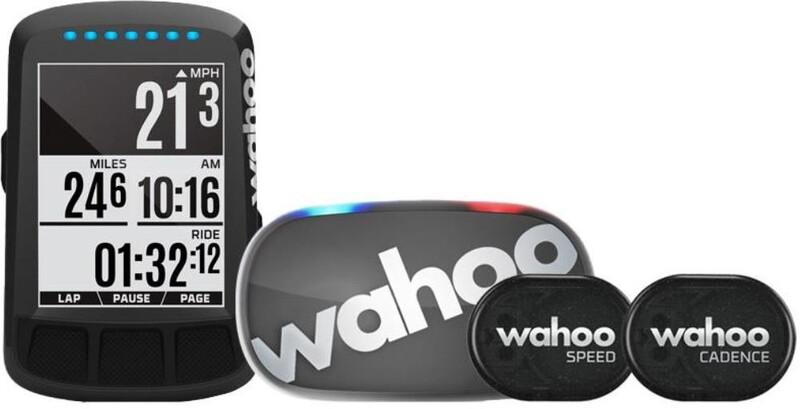 Wahoo ELEMNT BOLT GPS-paketti sis. TICKR 2 + nopeus- ja kadenssianturin, stealth