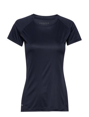Les Deux Tracks Basic T-Shirt T-shirts & Tops Short-sleeved Sininen Les Deux MIDNIGHT NAVY