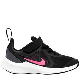 Nike DOWNSHIFTER 10 lasten juoksukengät, musta-fuksia 34
