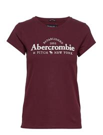 Abercrombie & Fitch Long Life Logo Tee T-shirts & Tops Short-sleeved Punainen Abercrombie & Fitch BURGUNDY DD