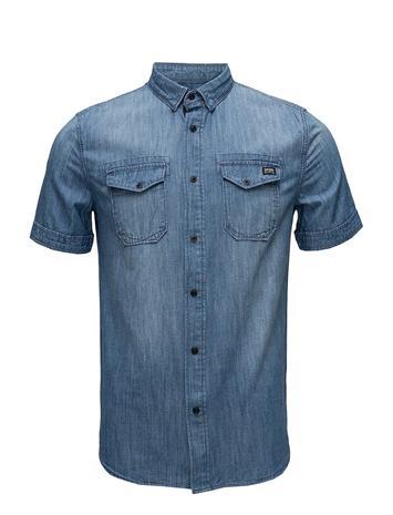 Superdry Dragway S/S Denim Shirt Lyhythihainen Paita Sininen Superdry MID VINTAGE
