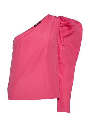 Gina Tricot Taffeta Shoulder Top Pitkähihainen Pusero Paita Vaaleanpunainen Gina Tricot HOT PINK (3712)