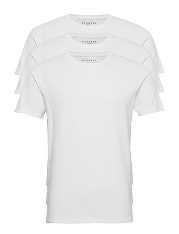 Selected Homme Slhnewpima Ss O-Neck Tee B 3 Pack Noos T-shirts Short-sleeved Valkoinen Selected Homme BRIGHT WHITE