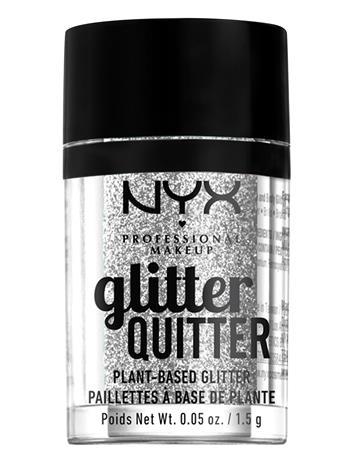 NYX PROFESSIONAL MAKEUP Glitter Quitter Plant Based Glitter Korostus Varjostus Contouring Meikki Hopea NYX PROFESSIONAL MAKEUP SILVER
