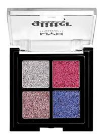 NYX PROFESSIONAL MAKEUP Glitter Goals Cream Quad Palette Love On Top Beauty WOMEN Makeup Eyes Eyeshadow Palettes Monivärinen/Kuvioitu NYX PROFESSIONAL MAKEUP LOVE ON TOP