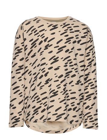 Lindex Top Ls African Hiking Aop T-shirts Long-sleeved T-shirts Beige Lindex LT BEIGE