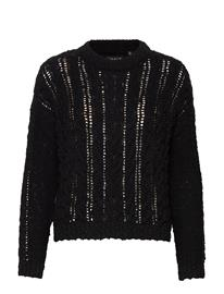 Superdry Layla Open Cable Knit Neulepaita Musta Superdry BLACK