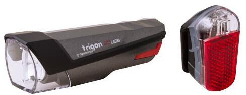 spanninga Trigon 25 Rechargeable Lighting Set StVZO, dark grey